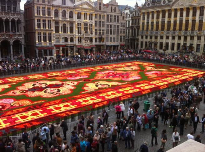 Flower Carpet - View from City Hall