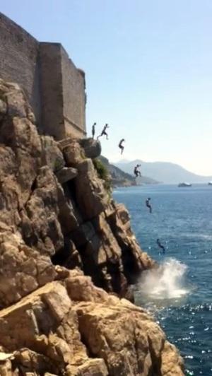 cliff jump base